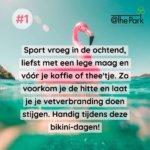 Hoe sporten tijdens de hitte @The Park Boekenbergpark