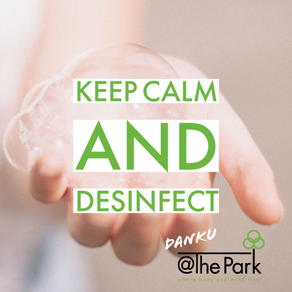 Desinfecteer tegen Corona virus @The Park Boekenvbergpark