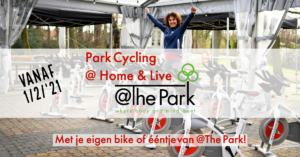 Indoor Cycling lessen online @The Park Boekenbergpark