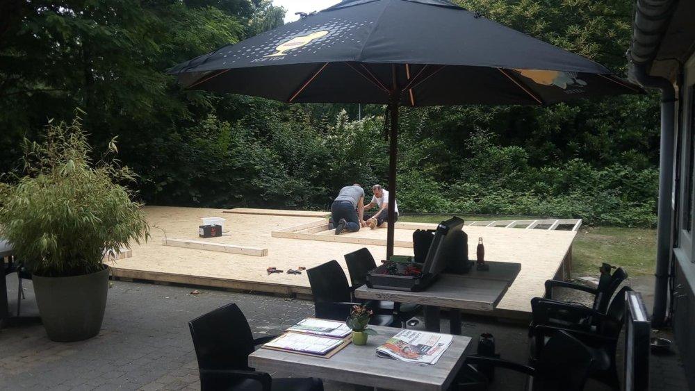 opbouw gratis salsa event @The Park Boekenbergpark