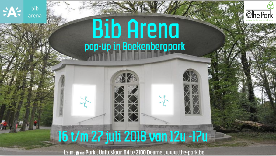 Pop Up Bib Arena in de Chinese pagode Boekenbergpark
