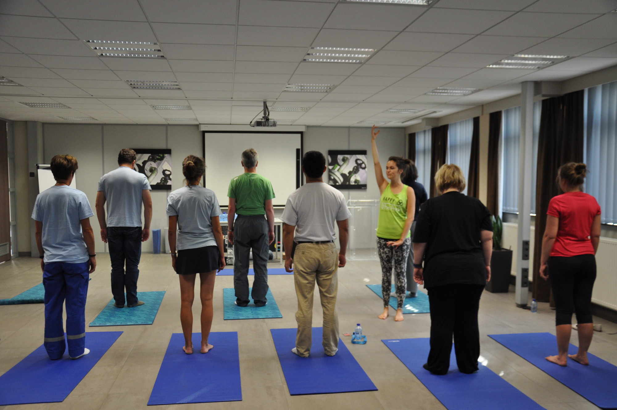 bedrijfsworkshop door @The Park yoga op locatie