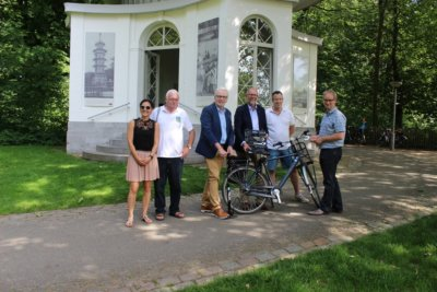 Fietserswelkom zaak @TP Boekenbergpark
