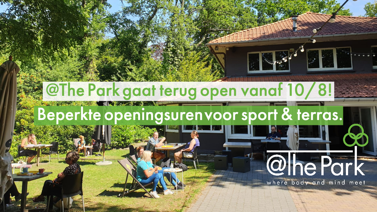 openluchtlessen en veilige terras in het groen @The Park Boekenbergpark