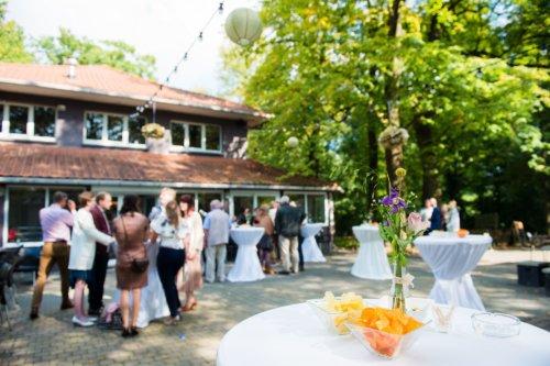 trouwreceptie op terras @The Park boekenbergpark